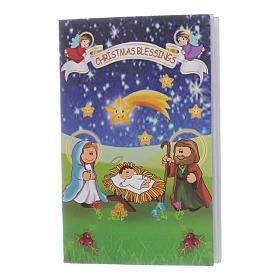 Pulsera de Navidad elástico de cristal y librito oraciones navideñas ITA s3