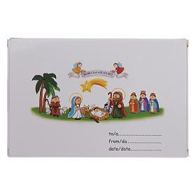 Pulsera de Navidad elástico de cristal y librito oraciones navideñas ITA s6