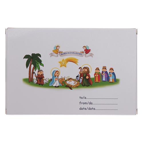 Pulsera de Navidad elástico de cristal y librito oraciones navideñas ITA 6