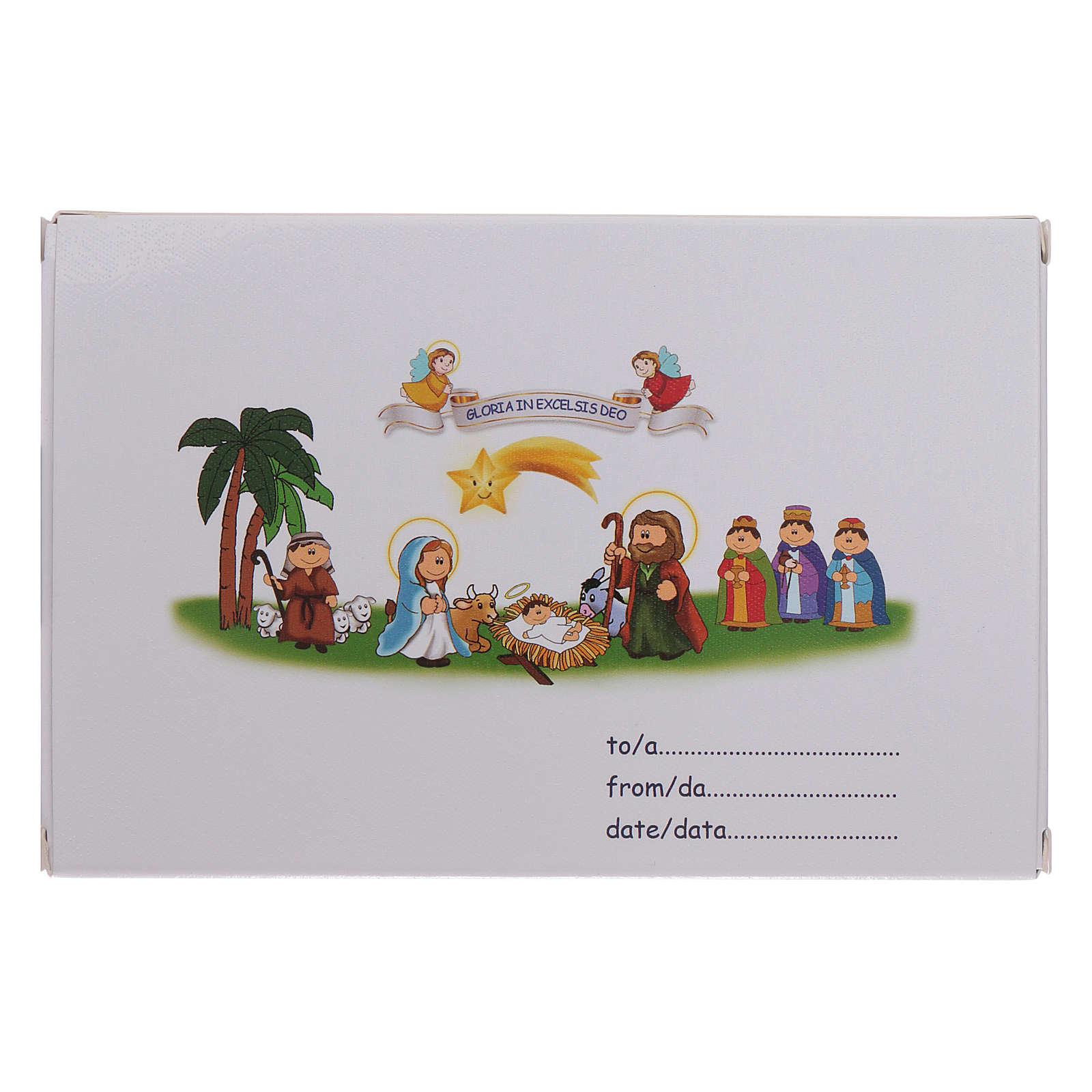 Bracelet de Noël élastique en cristal avec livre prières Noël ITA 4