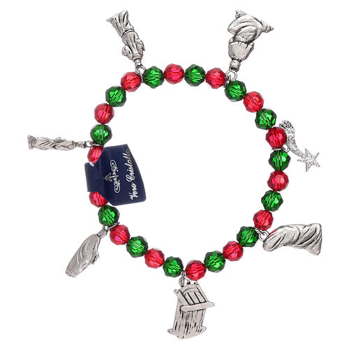Bracelet de Noël élastique en cristal avec livre prières Noël ITA 2
