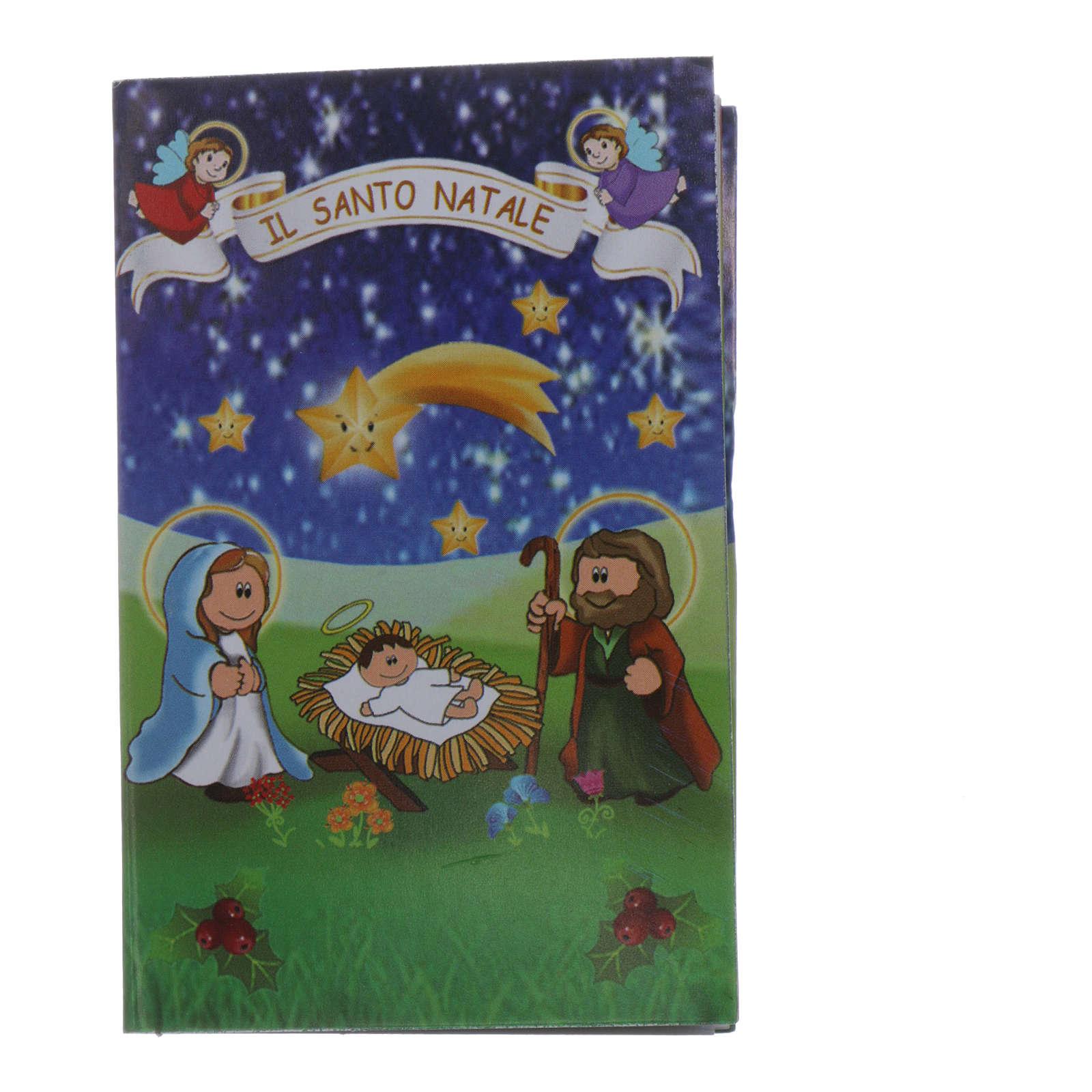 Rosario de Navidad de cristal con librito oraciones navideñas ITA 4