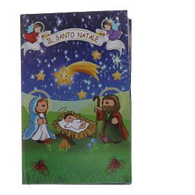 Rosario de Navidad de cristal con librito oraciones navideñas ITA s5