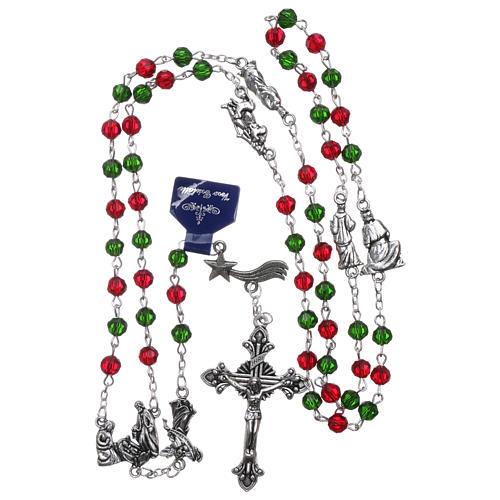Rosario di Natale in cristallo con libretto preghiere natalizie ITA 4
