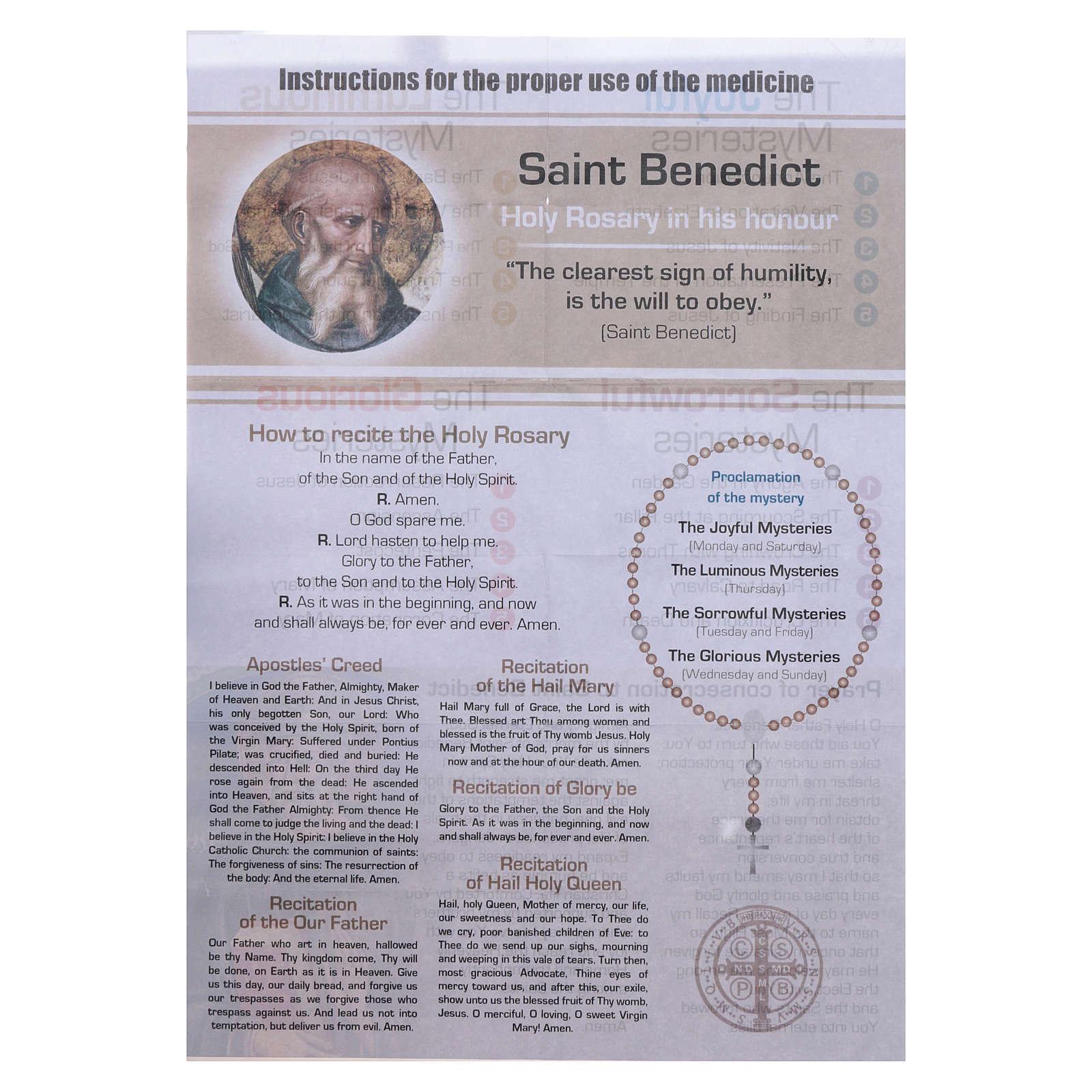 Rosario Vitamina dei Santi San Benedetto INGLESE 4