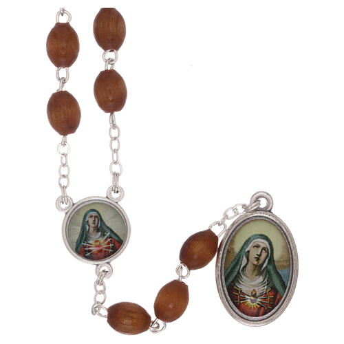 Our Lady of Sorrows rosary metal chain 1