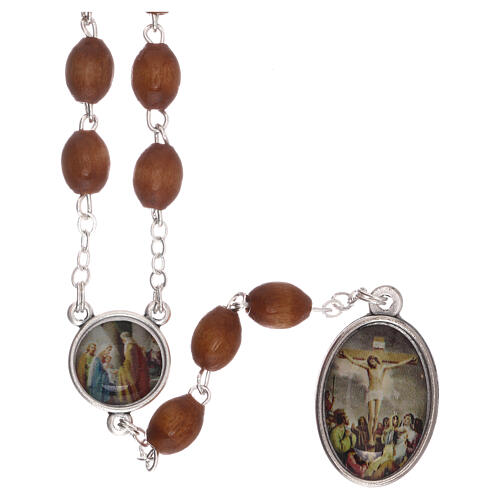 Our Lady of Sorrows rosary metal chain 2