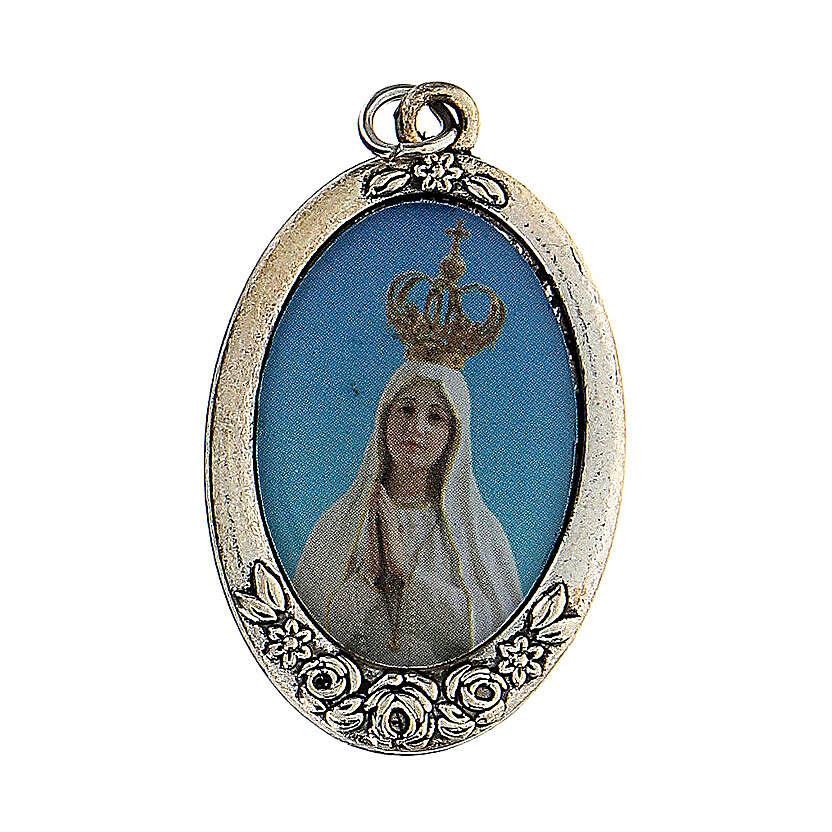Różaniec Madonna Pielgrzymująca z Fatimy koraliki białe imitacja pereł 5 mm - Kolekcja Korony Wiary 3/47 4