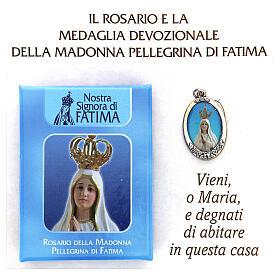 Różaniec Madonna Pielgrzymująca z Fatimy koraliki białe imitacja pereł 5 mm - Kolekcja Korony Wiary 3/47 s2