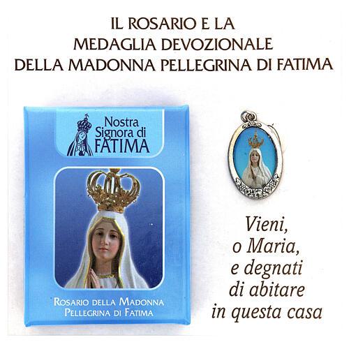 Różaniec Madonna Pielgrzymująca z Fatimy koraliki białe imitacja pereł 5 mm - Kolekcja Korony Wiary 3/47 2