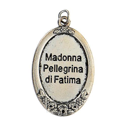 Różaniec Madonna Pielgrzymująca z Fatimy koraliki białe imitacja pereł 5 mm - Kolekcja Korony Wiary 3/47 5