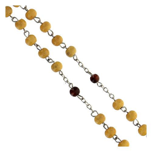Rosario Carità grani legno giallo 6 mm - Collezione Corone Fede 9/47 4