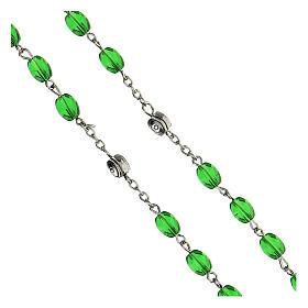 Różaniec Święty Józef koraliki szkło zielone podłużne 6 mm - Kolekcja Korony Wiary 11/47 s4