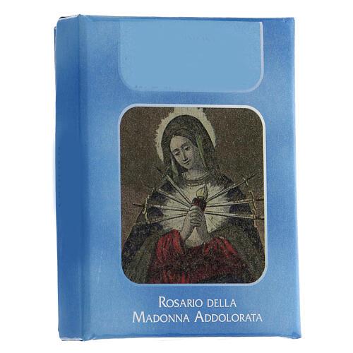 Chapelet Notre-Dame des Douleurs grains verre à facettes argenté 6 mm - Collection de la Foi 14/47