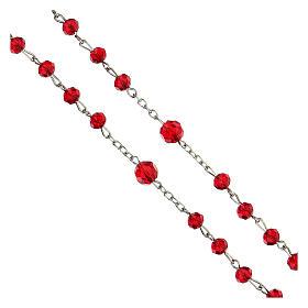 Różaniec Miłosierdzie Boże koraliki szlifowane szkło czerwone 6 mm - Kolekcja Korony Wiary 18/47 s4