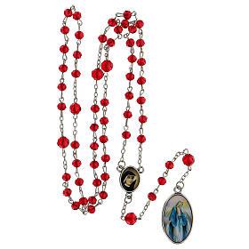 Różaniec Miłosierdzie Boże koraliki szlifowane szkło czerwone 6 mm - Kolekcja Korony Wiary 18/47 s5