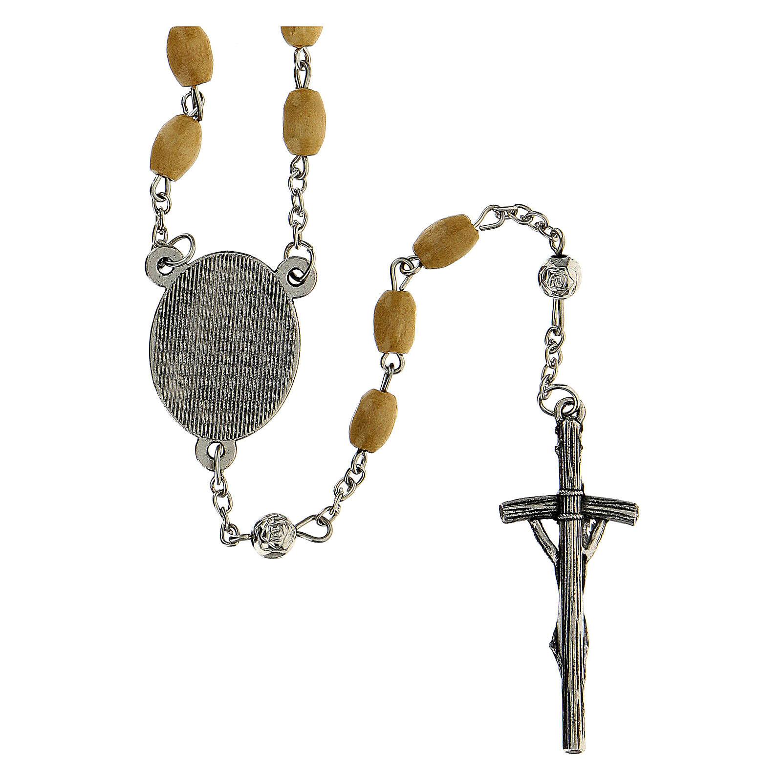 Rosario Papa Giovanni Paolo I grani legno giallo 5 mm - Collezione Corone Fede 22/47 4