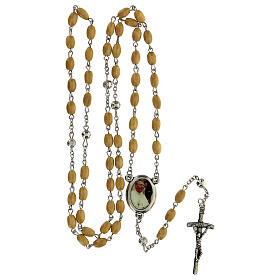 Rosario Papa Giovanni Paolo I grani legno giallo 5 mm - Collezione Corone Fede 22/47 s5