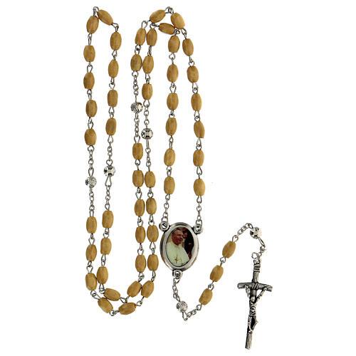 Rosario Papa Giovanni Paolo I grani legno giallo 5 mm - Collezione Corone Fede 22/47 5