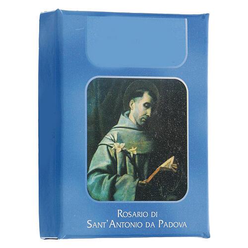 Różaniec Św. Antoni z Padwy koraliki szkło zielone jasne 6 mm - Kolekcja Korony Wiary 23/47 2