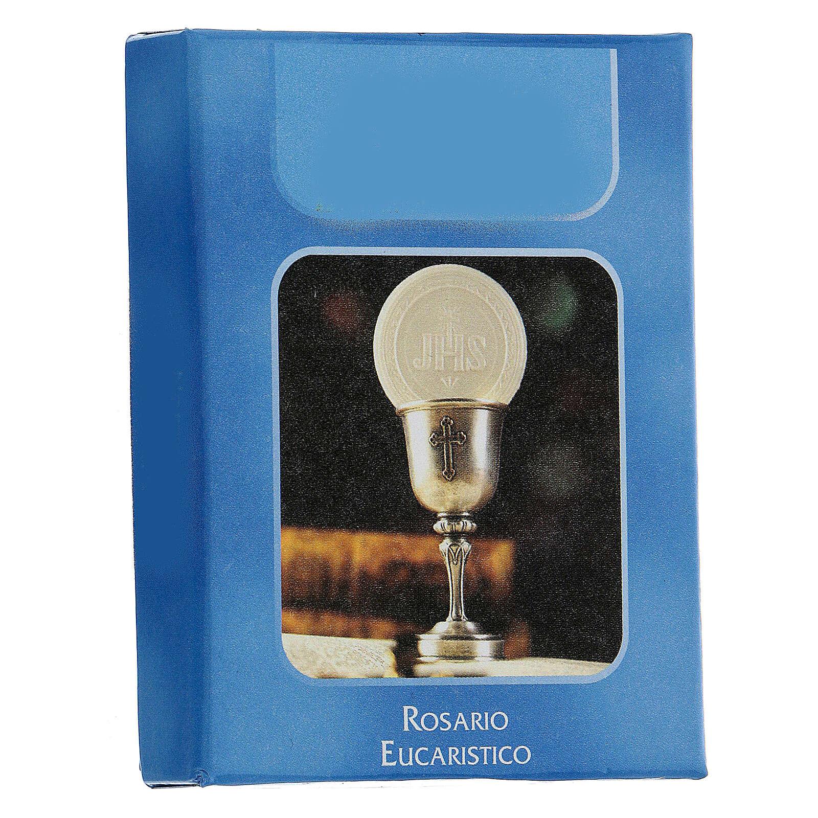 Różaniec Eucharystyczny koraliki szlifowane szkło przezroczyste 6 mm - Kolekcja Korony Wiary 41/47 4