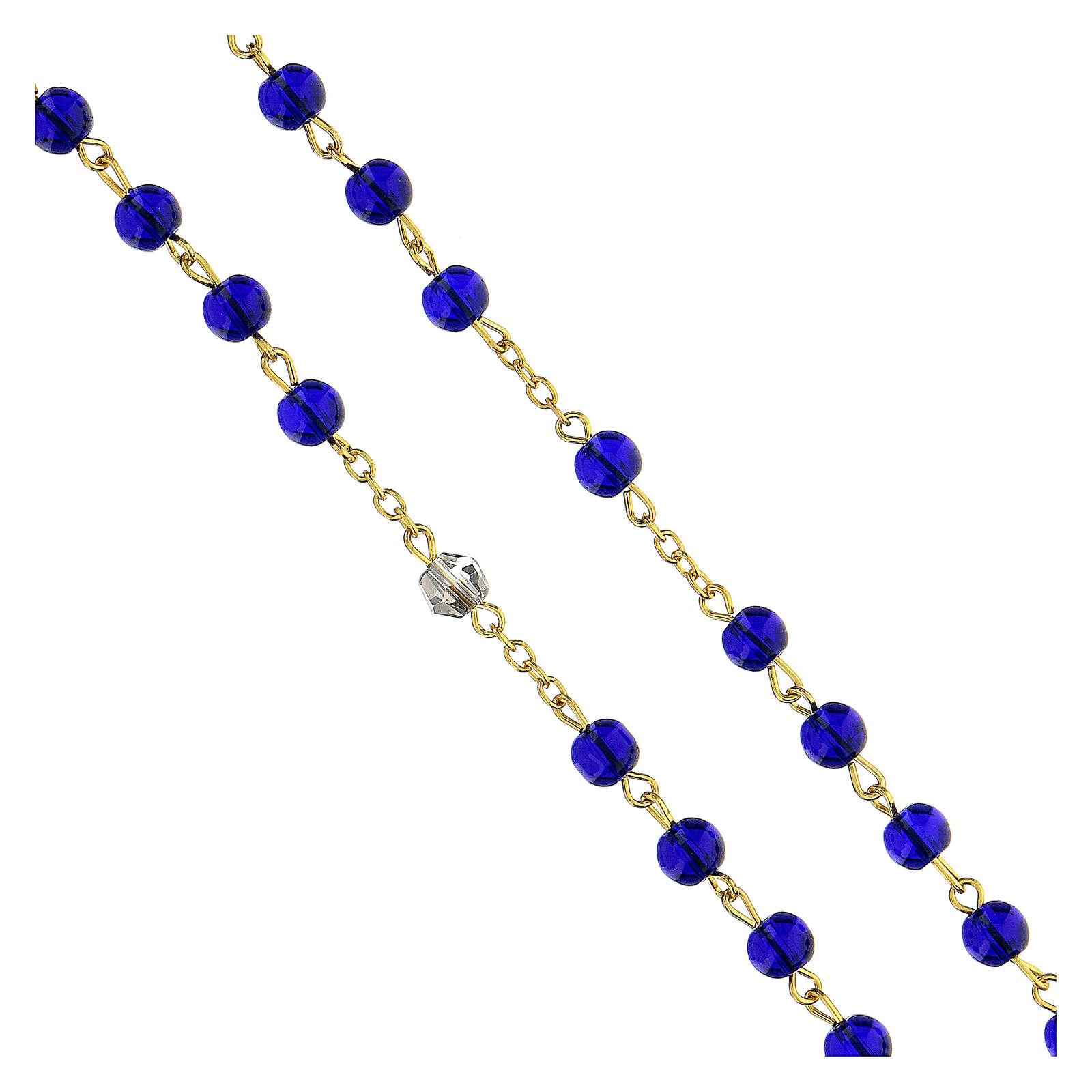 Różaniec Ewangelii koraliki szkło niebieskie 6 mm - Kolekcja Korony Wiary 47/47 4