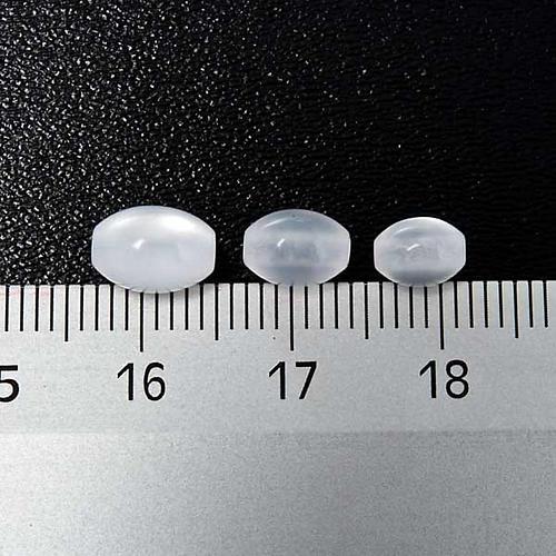 Grains chapelet simili nacre blanc ovale 3