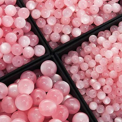 Koraliki różańca imitacja masy perłowej różowe okrągłe 1