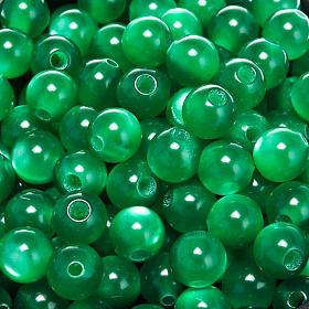 Cuentas rosarios similar nácar verdes redondos s1