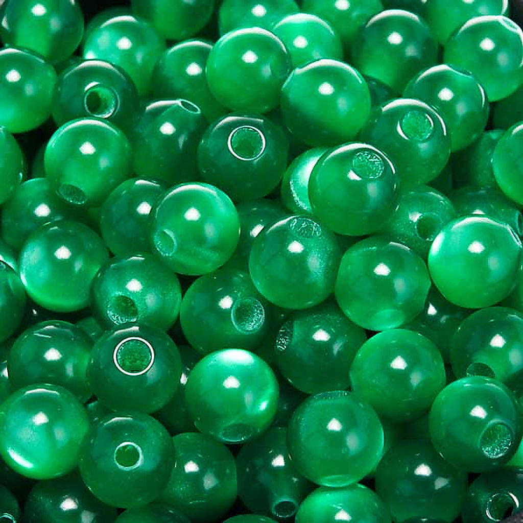 Grani rosari imitazione madreperla verde tondi 4