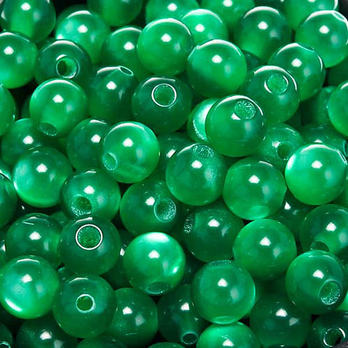 Grani rosari imitazione madreperla verde tondi 1