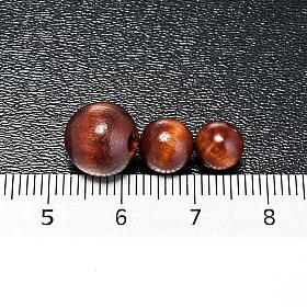 Rosary parts, round brown wooden beads s3