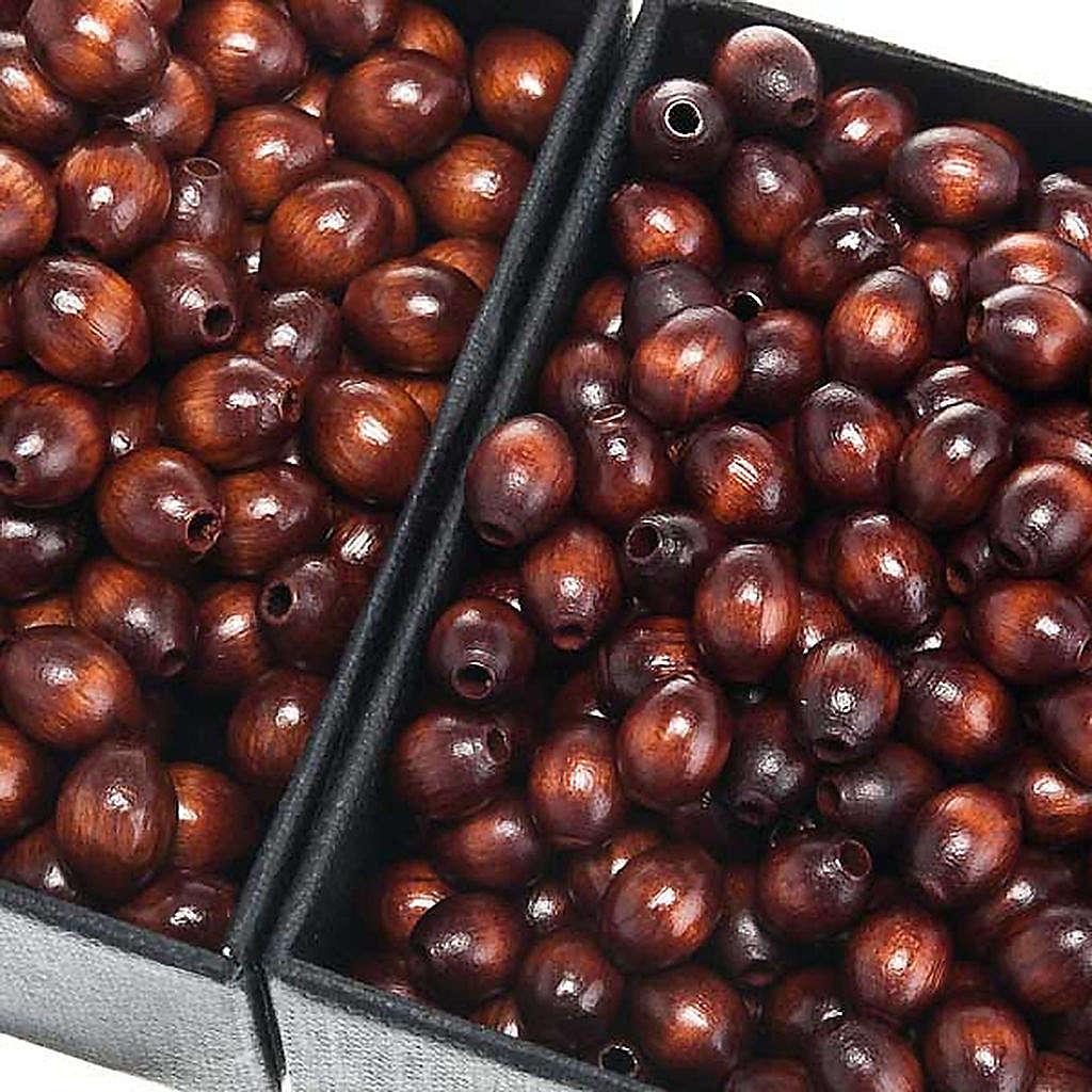 Grani rosario similcocco marrone ovale 4