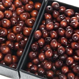 Grani rosario similcocco marrone ovale s1