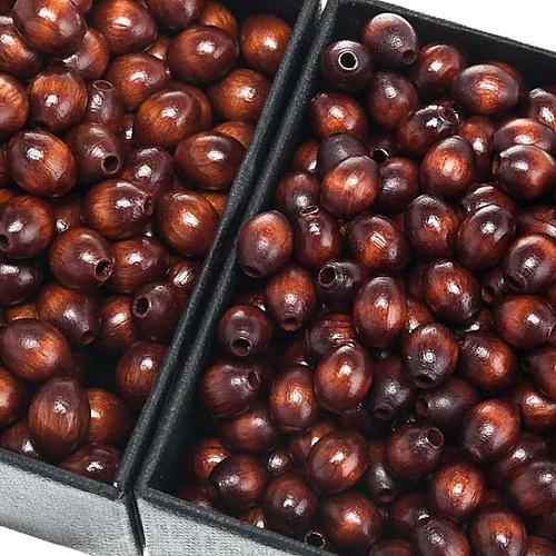 Grani rosario similcocco marrone ovale 1