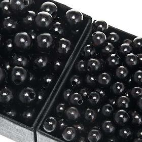 Koraliki różańca drewno czarne okrągłe s1