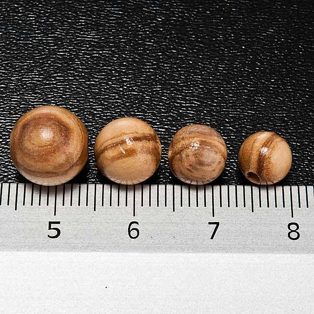 Rosary parts, round olive wood beads 4