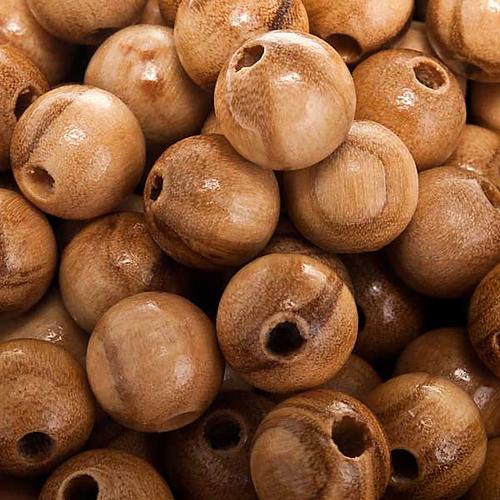 Grains chapelet bois d'olivier rond 2