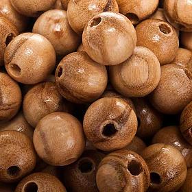 Contas em oliveira redondas s2