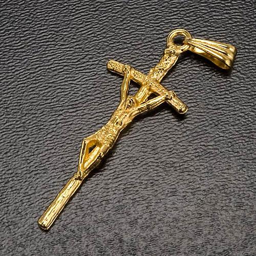 Croce pastorale dorata rosari fai da te 2