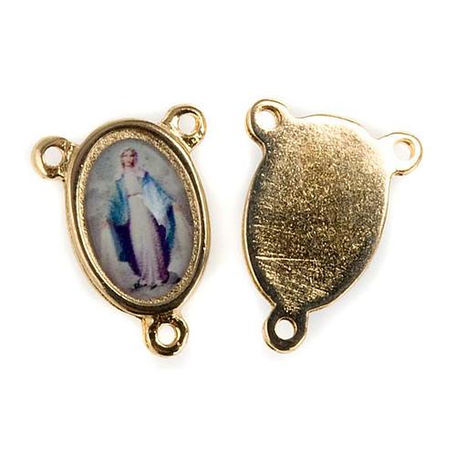 Pieza central metal dorado Virgen Milagrosa 1