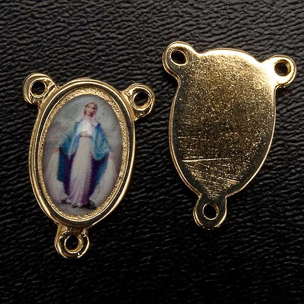 Crociera metallo dorato Madonna Miracolosa 4