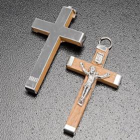 Krzyż drewniany ciało i tył metalowe różaniec zrób to sam s3