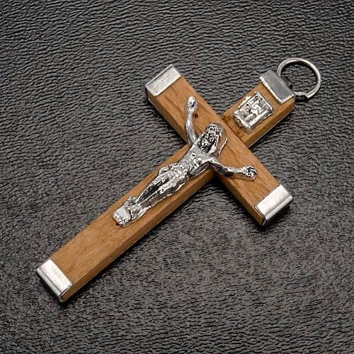 Krzyż drewniany ciało i tył metalowe różaniec zrób to sam 2