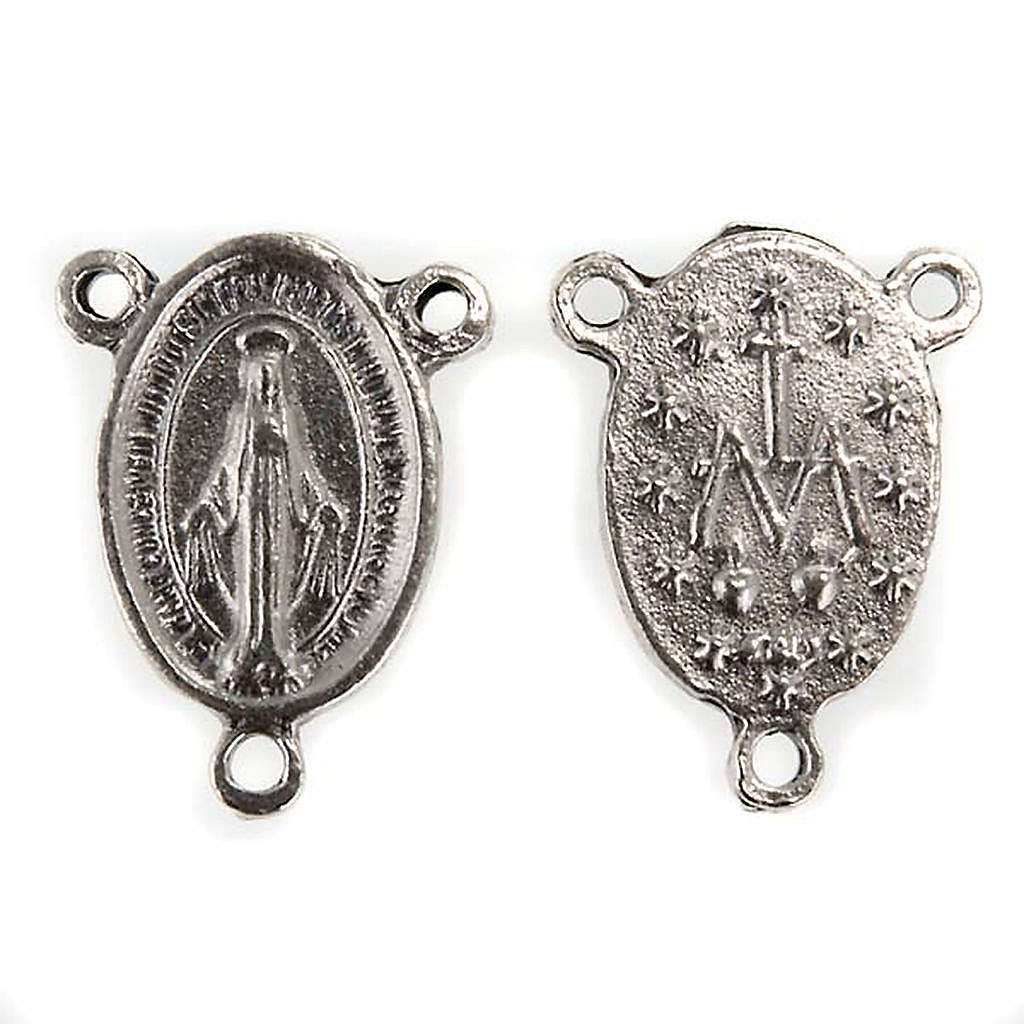 Rosary center piece miraculous medal 4