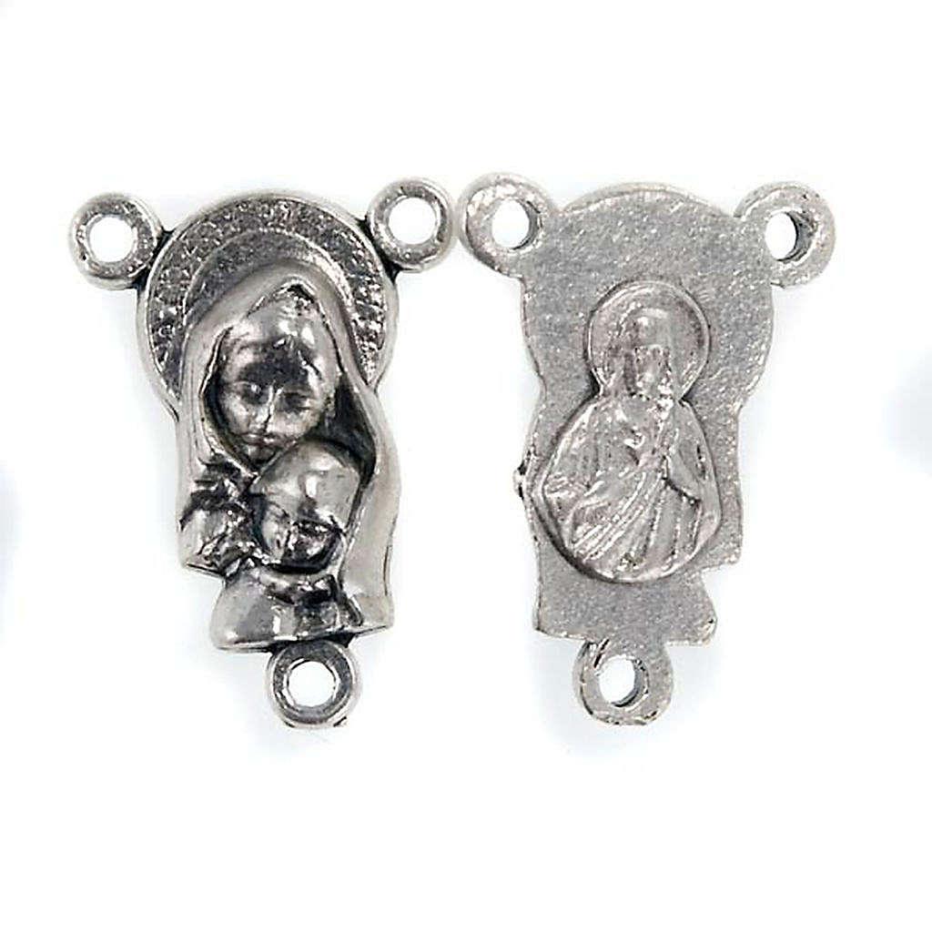 Mittelstück für Rosenkranz, Maria mit dem Kind 4