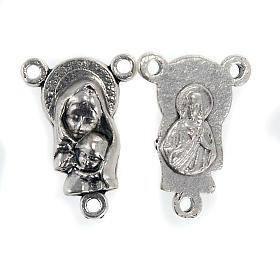 Mittelstück für Rosenkranz, Maria mit dem Kind s1