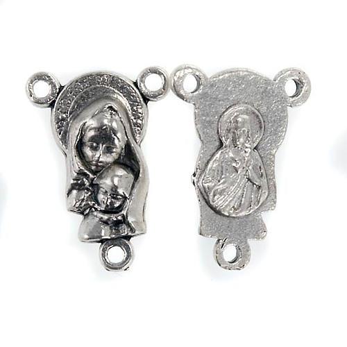 Łącznik metal Madonna z Dzieciątkiem różaniec zrób to sam 1