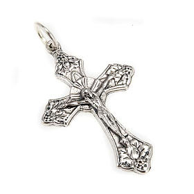 Rosary crucifix in metal with ring s1