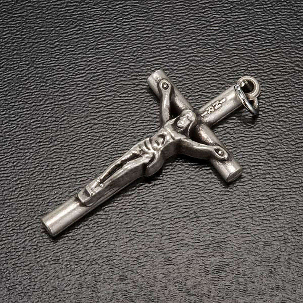 Rosary crucifix with ring in golden metal 4